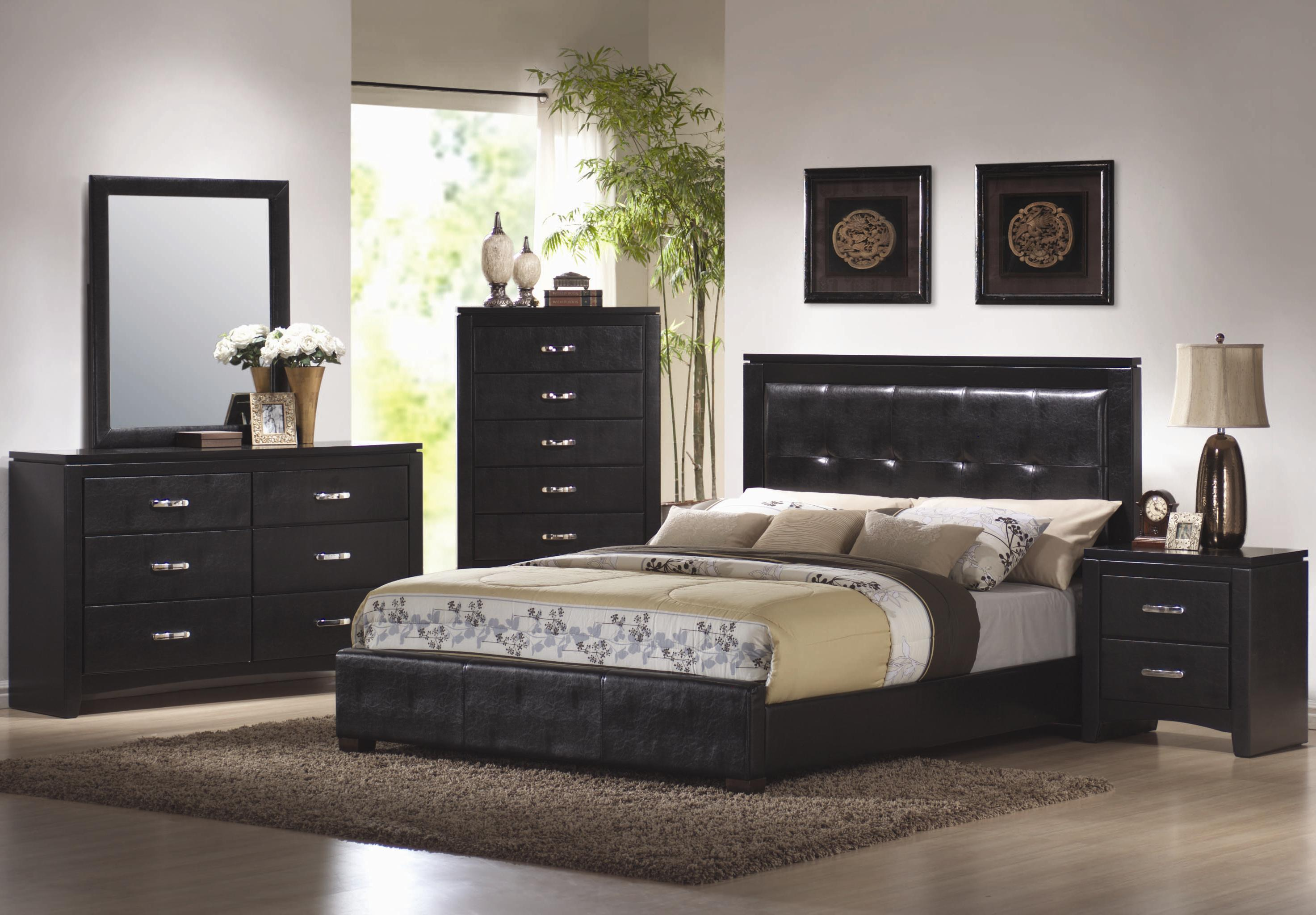 bedroom furniture black and white photo - 6