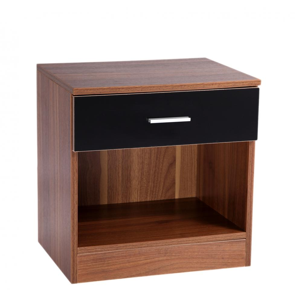 bedroom furniture black gloss and walnut photo - 1