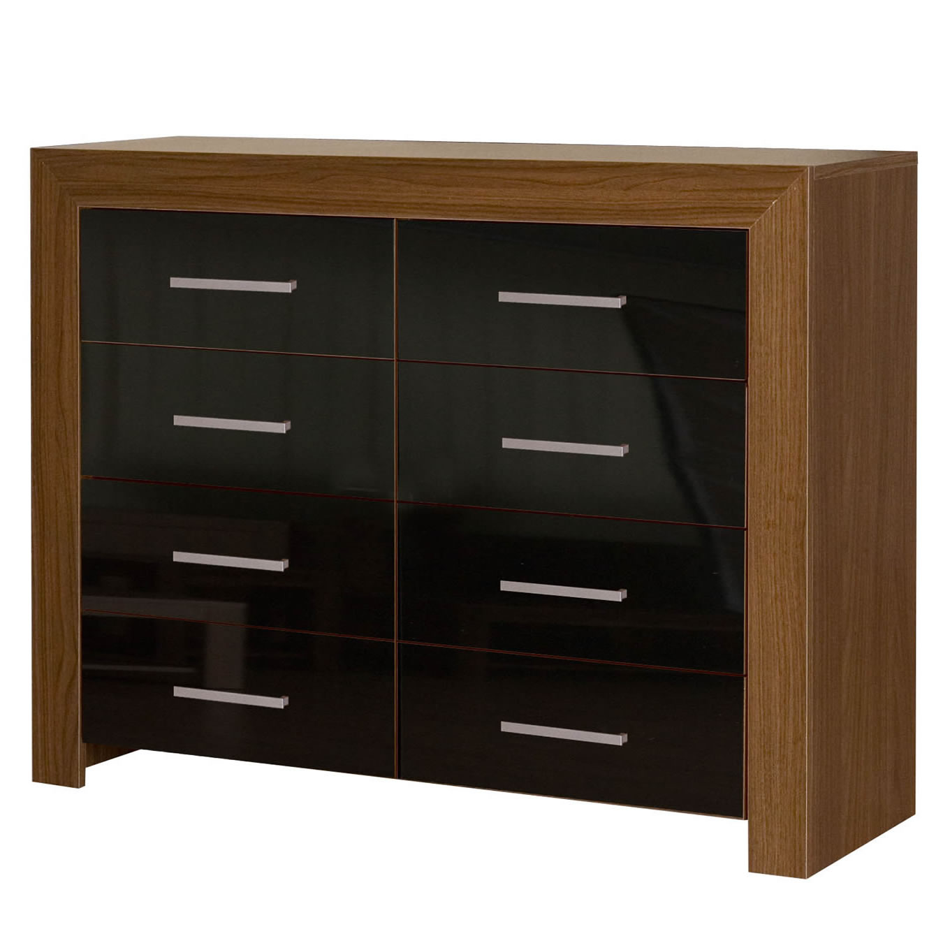 bedroom furniture black gloss and walnut photo - 5