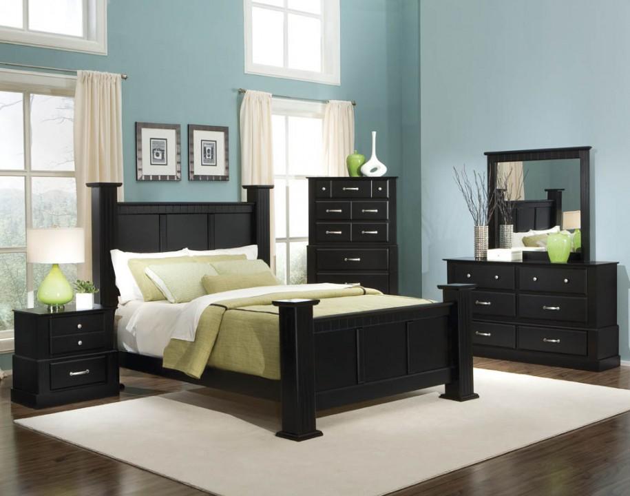 bedroom furniture black wood photo - 1