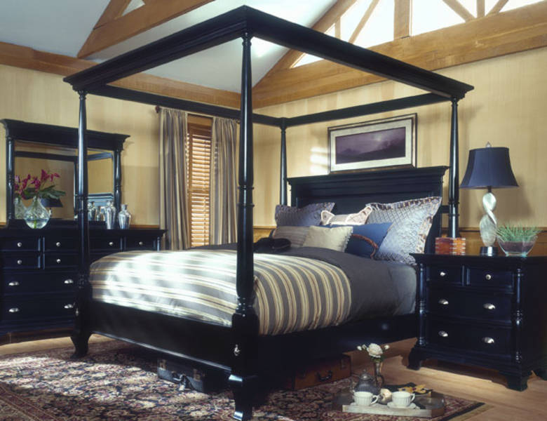 bedroom furniture black wood photo - 5