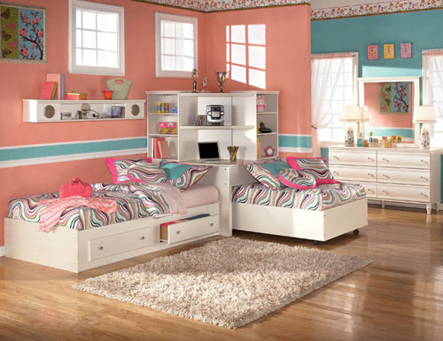 bedroom furniture for twin girls photo - 1