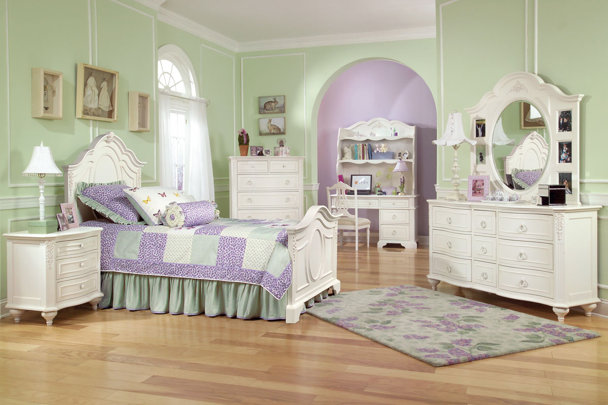 bedroom furniture for twin girls photo - 4