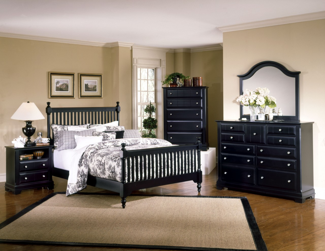 bedroom furniture sets black photo - 2