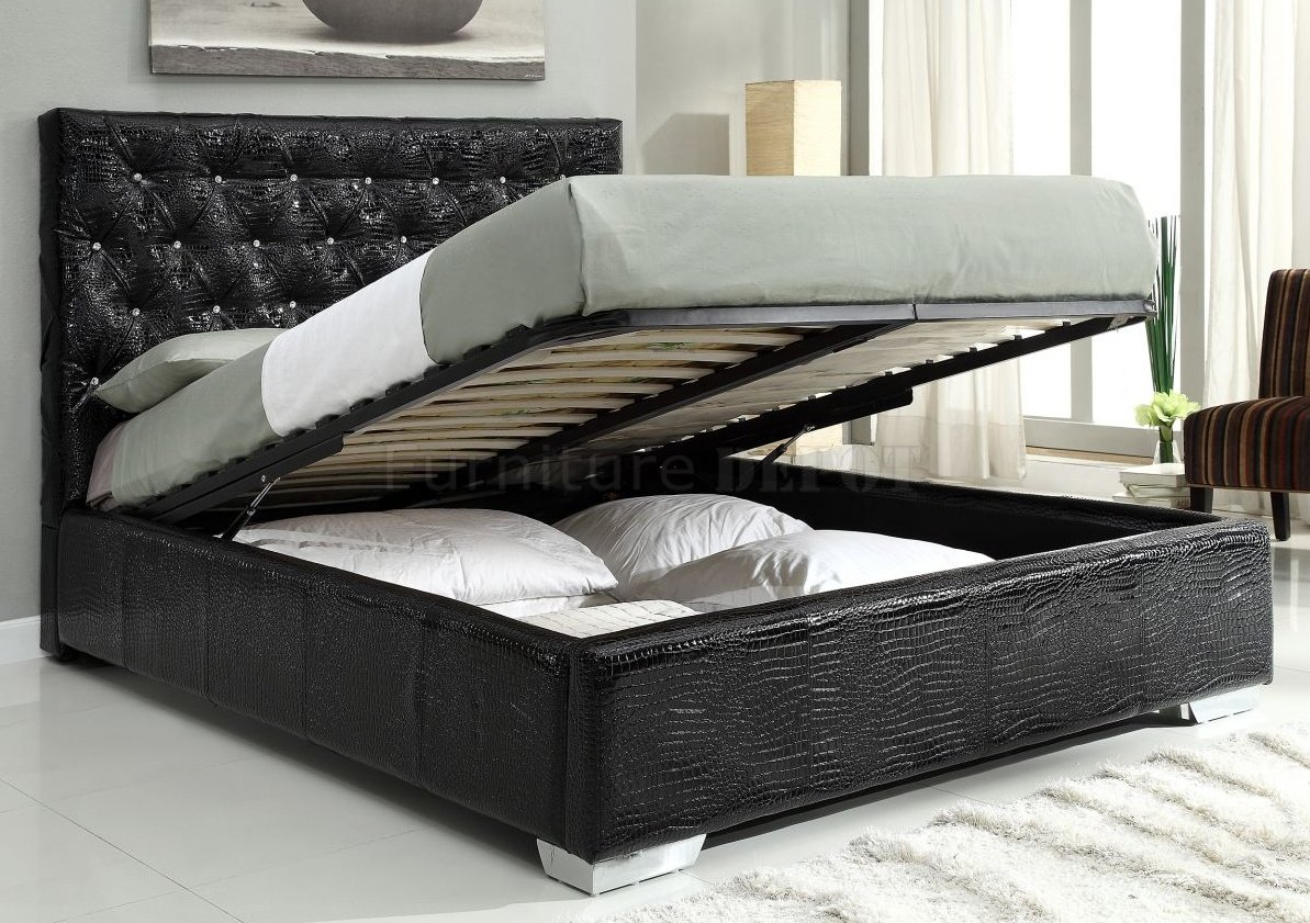 bedroom furniture sets black photo - 3