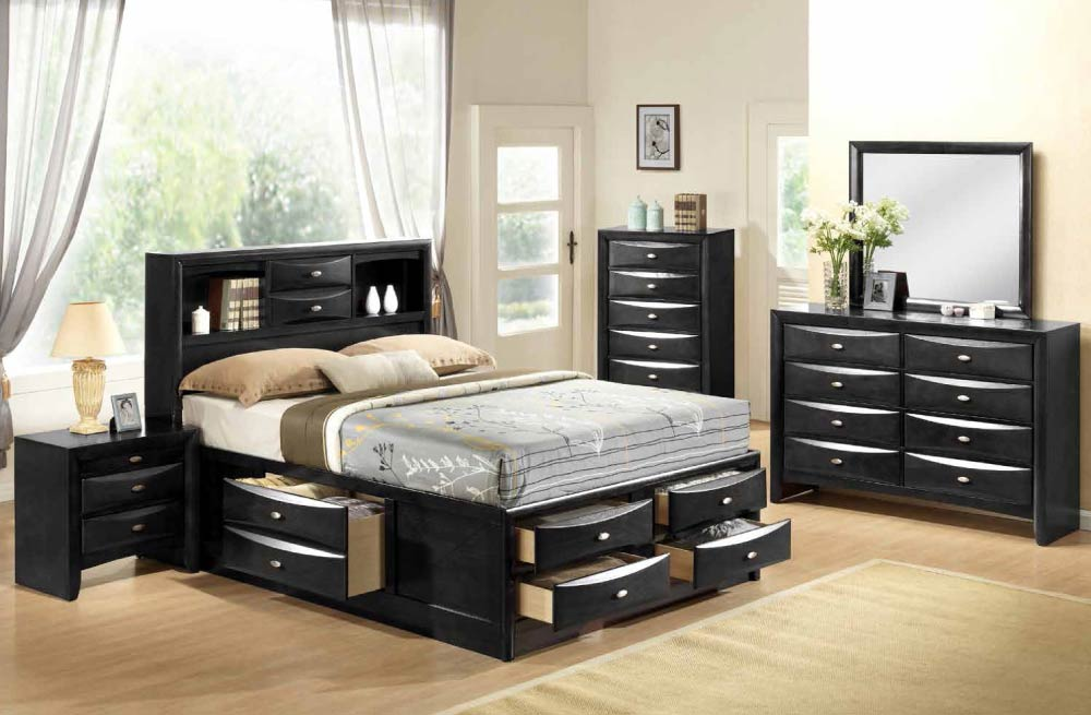 bedroom furniture sets black photo - 6