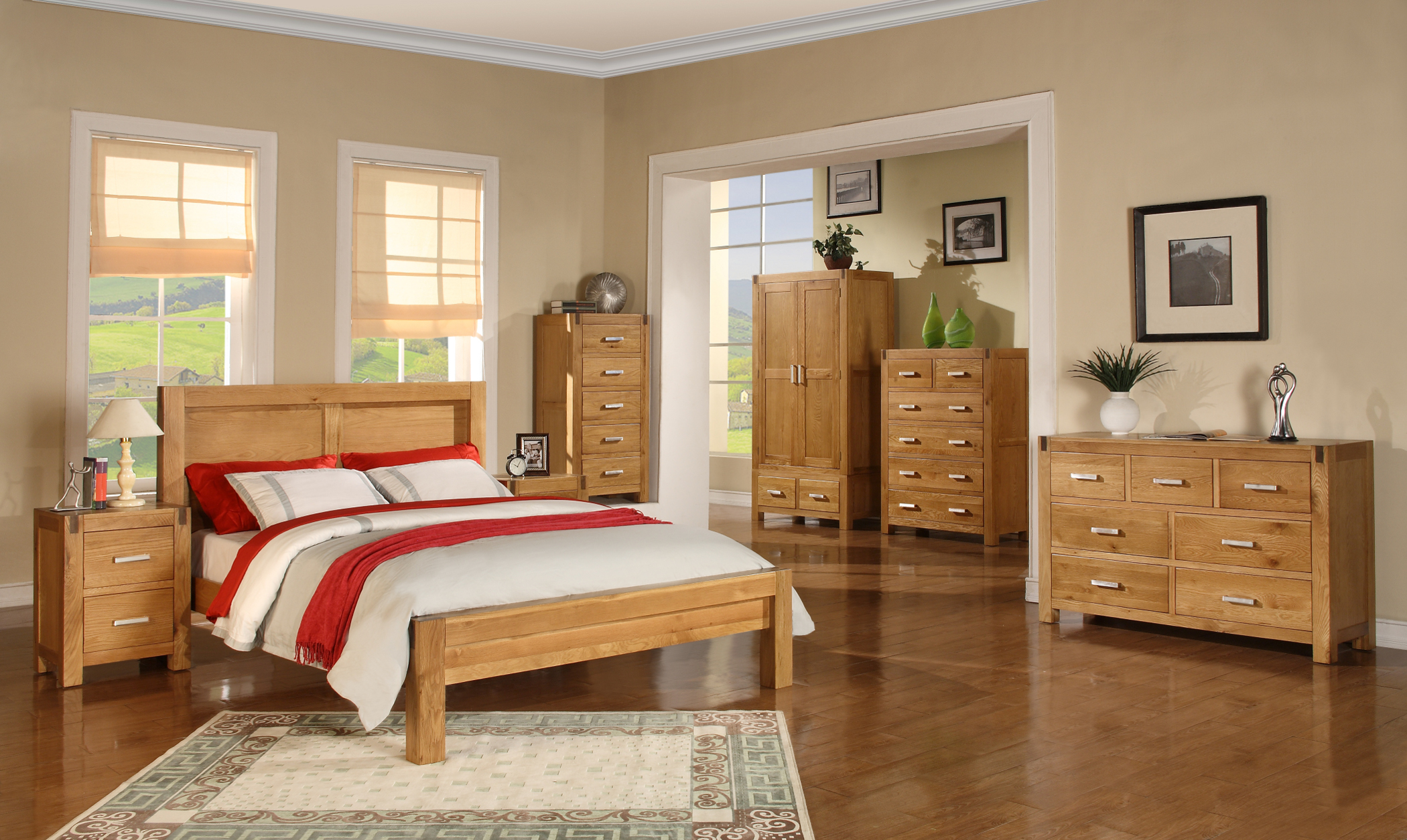 bedroom furniture sets oak photo - 1