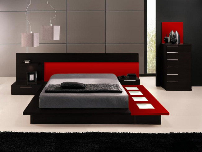 bedroom furniture sets queen black photo 3
