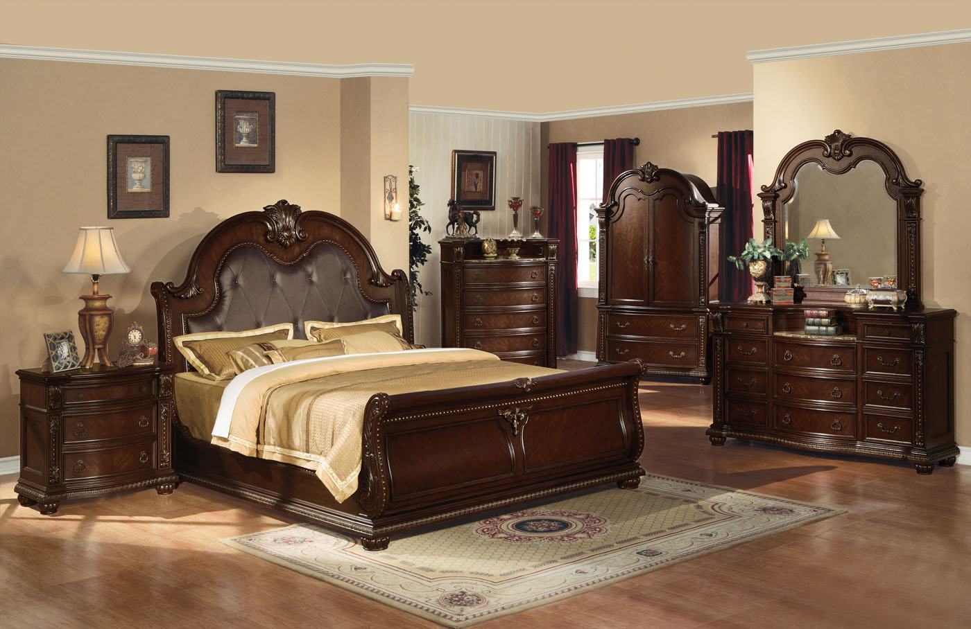bedroom furniture sets with bed photo - 4