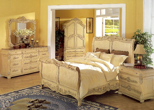 bedroom furniture sets with marble tops photo - 4