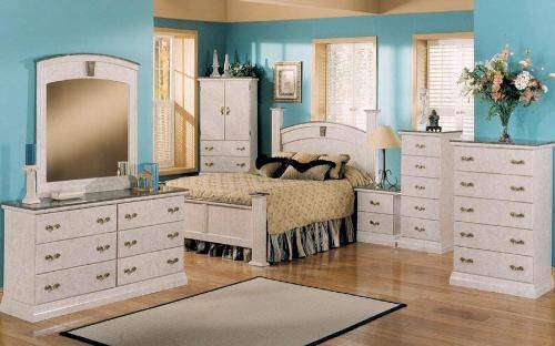 bedroom furniture sets with marble tops photo - 5