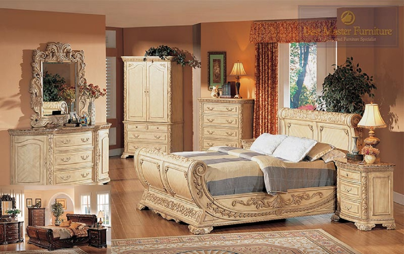 Beautiful bedroom furniture how to decorate a grey for Front door furniture sets