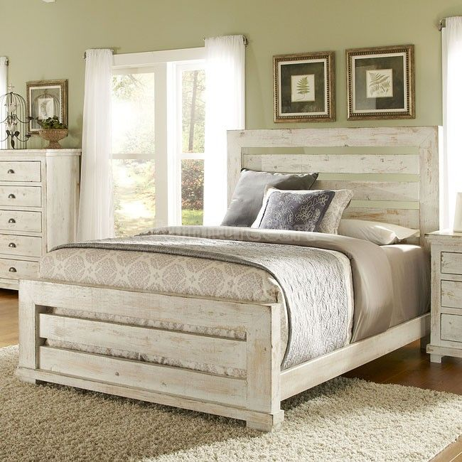 bedroom furniture white distressed photo - 4