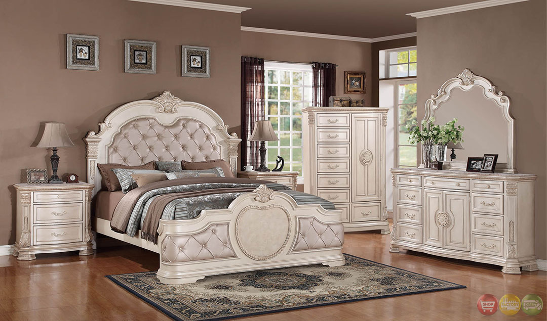 bedroom furniture white distressed photo - 5