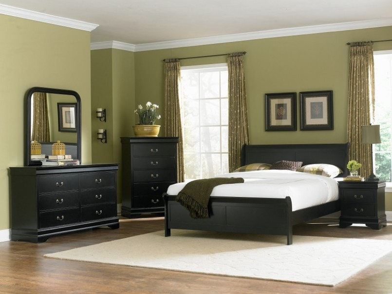 bedroom ideas black furniture photo - 4
