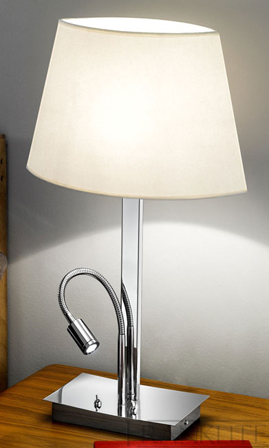 bedroom lamp with reading light photo - 4