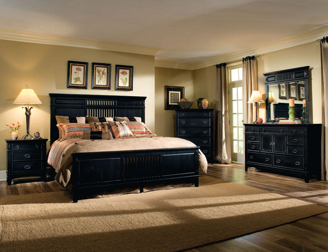 bedroom makeover black furniture photo - 5