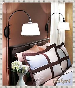 bedroom wall lamp height photo - 1