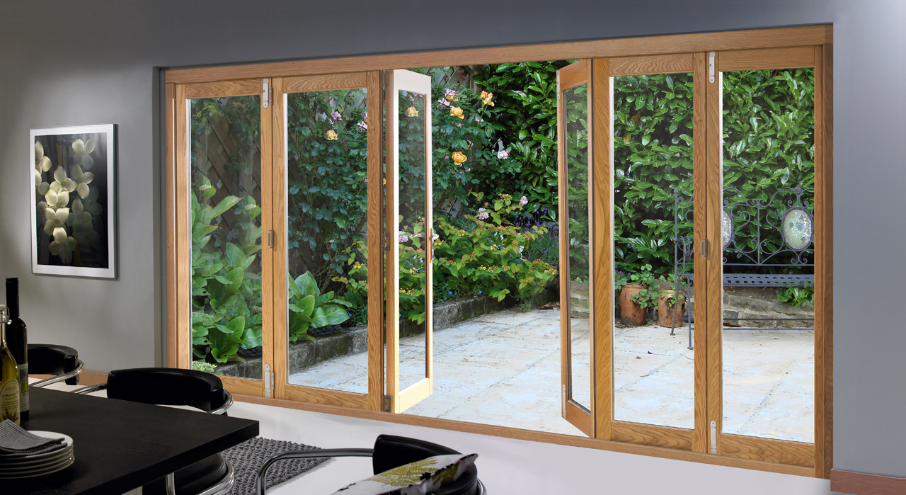 bi folding french doors exterior photo - 1