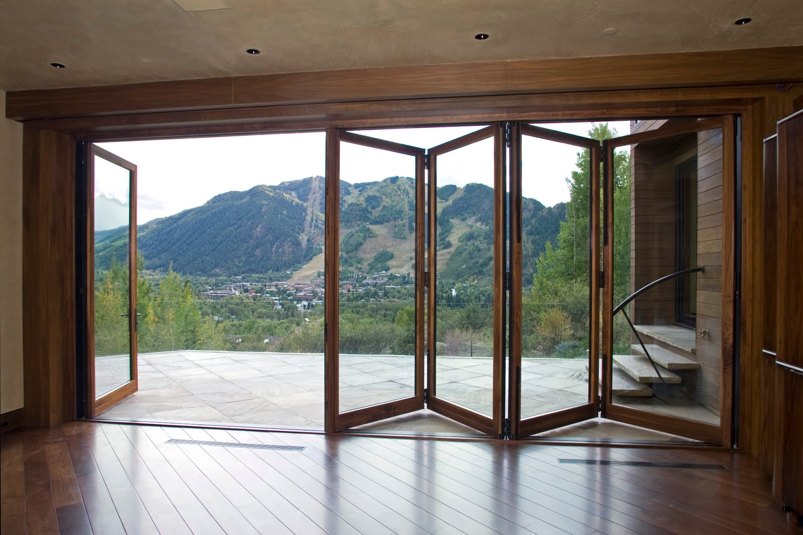bi folding french doors exterior photo - 4