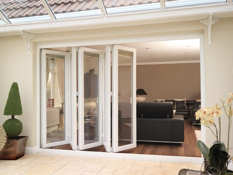 bi folding french doors exterior photo - 5