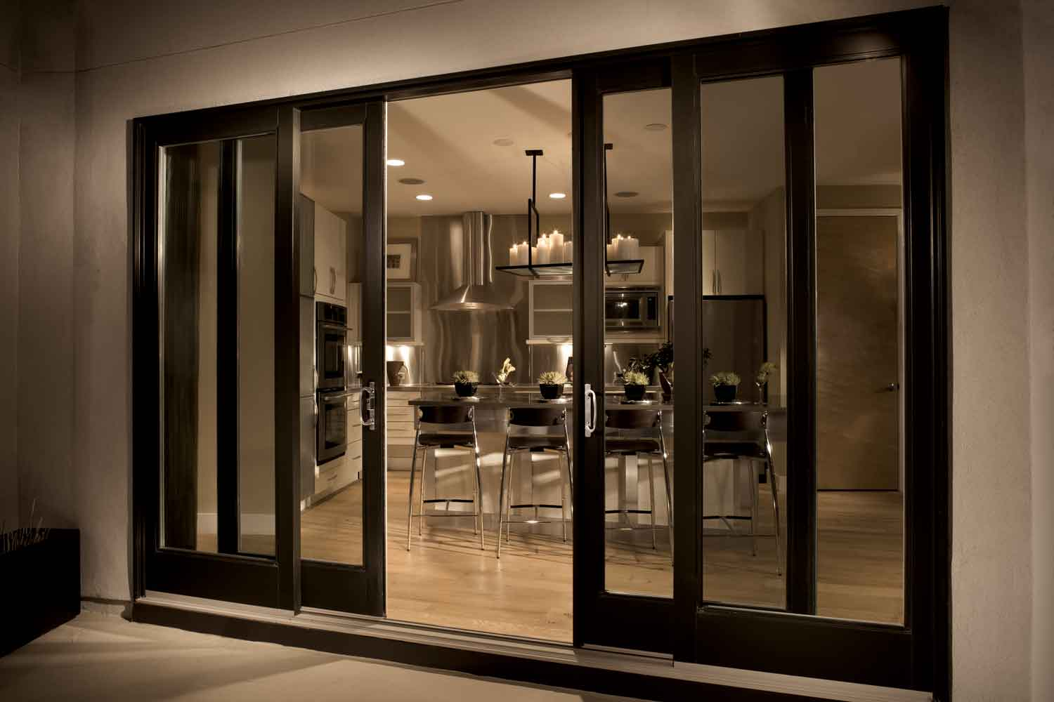 bi folding french doors exterior photo - 6