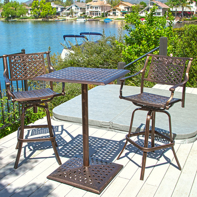 bistro bar sets outdoor furniture photo - 1