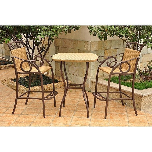 bistro bar sets outdoor furniture photo - 3