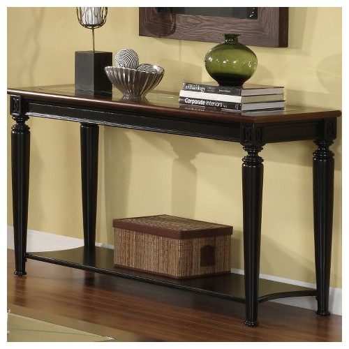black and cherry sofa table photo - 1