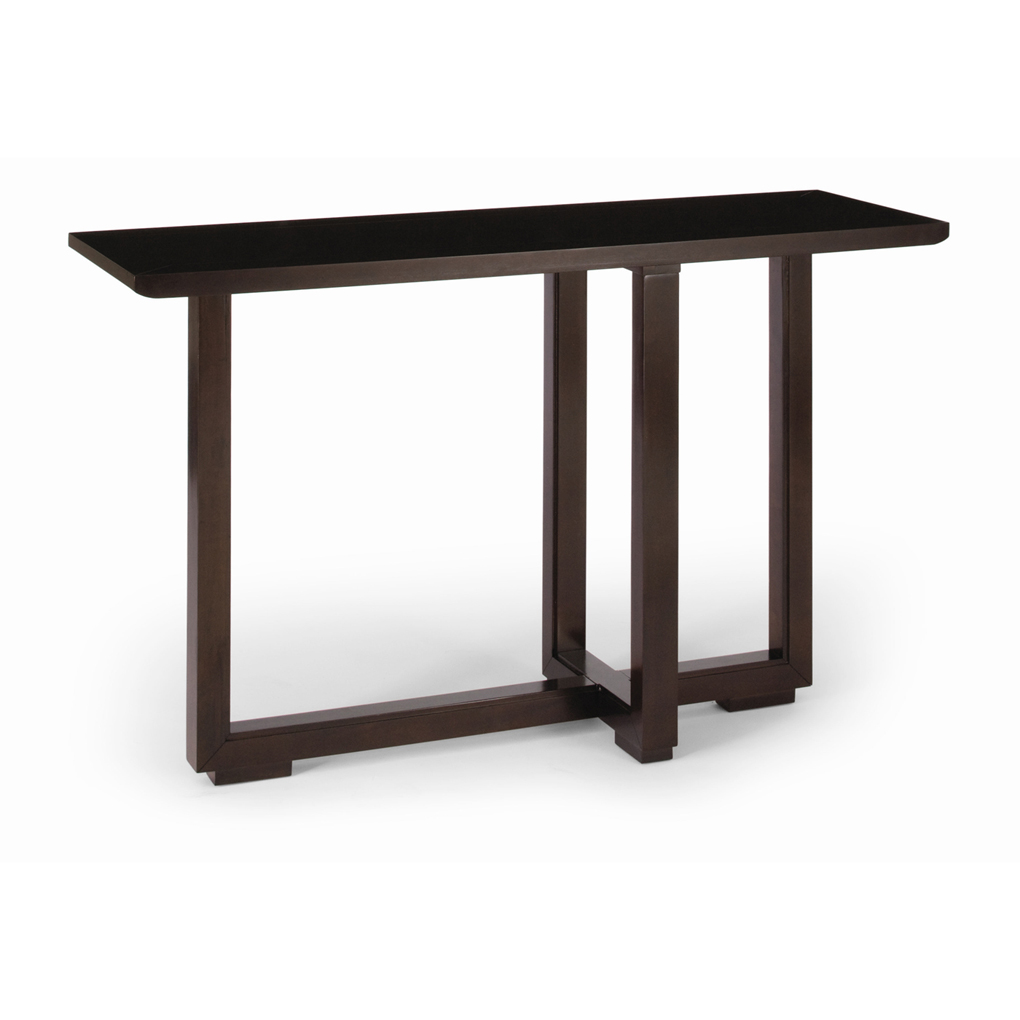 black and cherry sofa table photo - 2