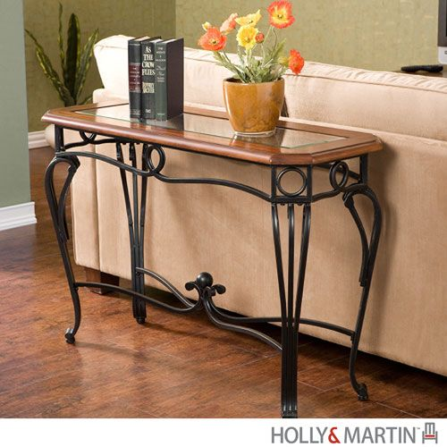 black and cherry sofa table photo - 3