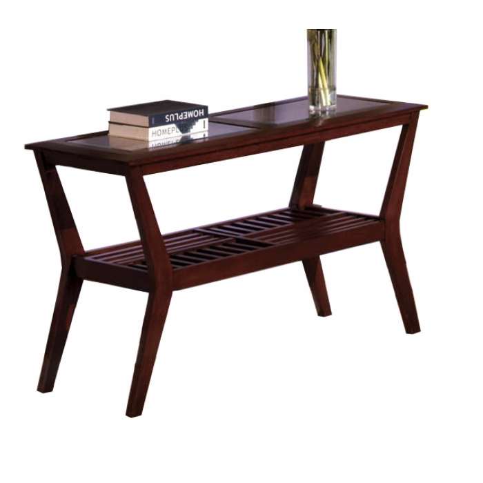 black and cherry sofa table photo - 5