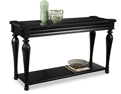 black and cherry sofa table photo - 6