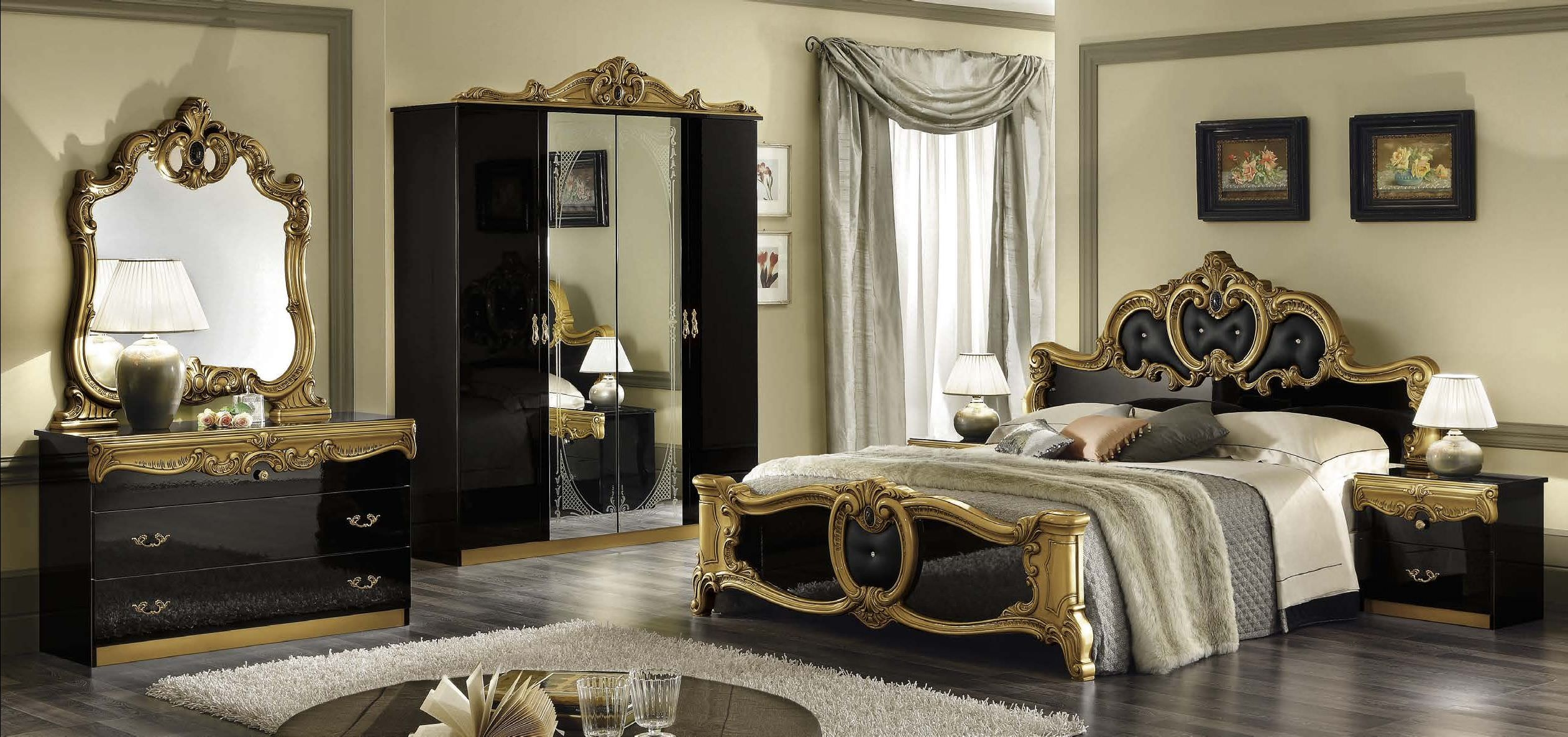 black and gold bedroom design photo - 4