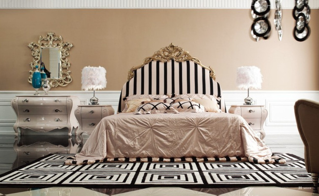 Black And Mirrored Bedroom Furniture Photo   2
