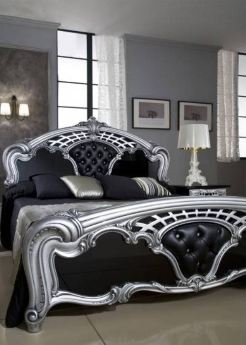 black and silver bedroom sets photo - 4