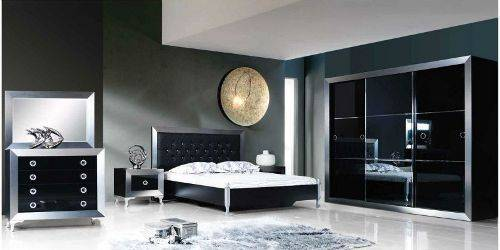 black and silver bedroom sets photo - 5