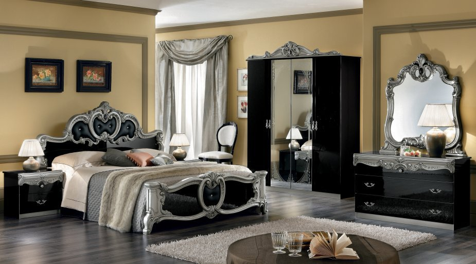 black and silver bedroom sets photo - 6