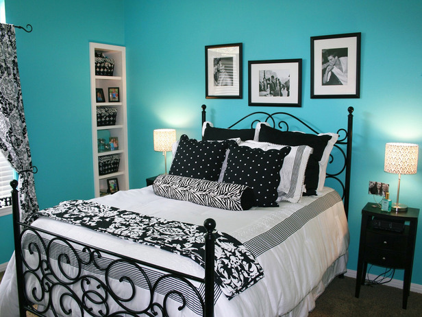black and white and blue bedrooms photo - 2