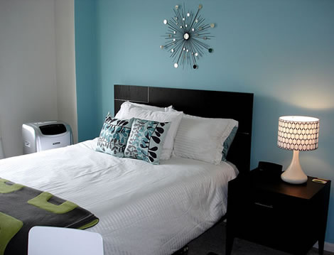 black and white and blue bedrooms photo - 5