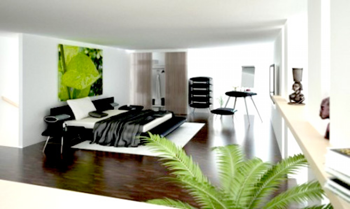 black and white bedroom designs for men photo - 1