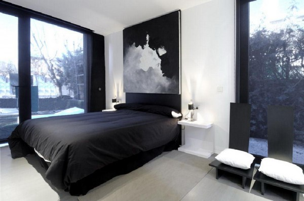 black and white bedroom designs for men photo - 2