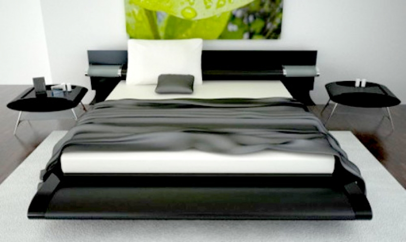 black and white bedroom designs for men photo - 3