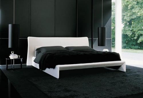 black and white bedroom designs for men photo - 5