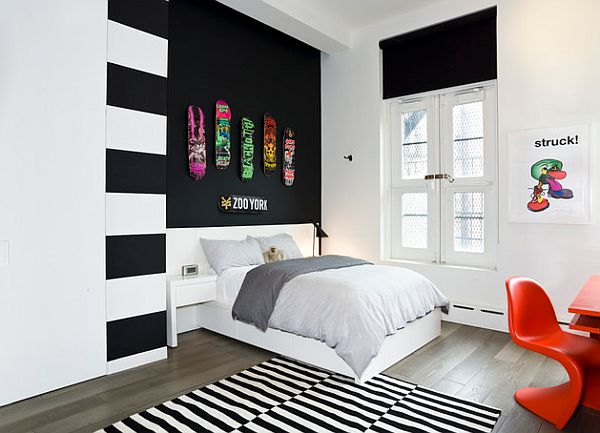 black and white bedroom designs for teenage girls photo - 2