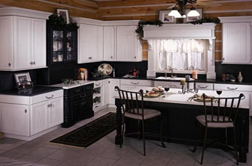 black and white country kitchen designs photo - 3