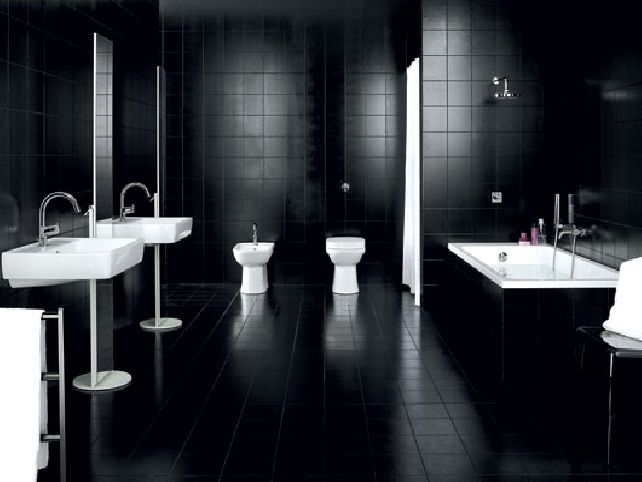 Black And White Kids Bathroom Ideas Photo 3