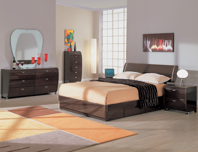 black bamboo bedroom furniture photo - 5