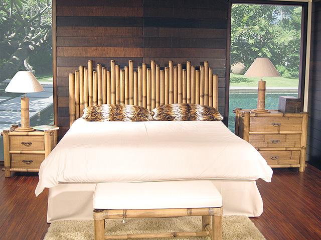black bamboo bedroom furniture photo - 6