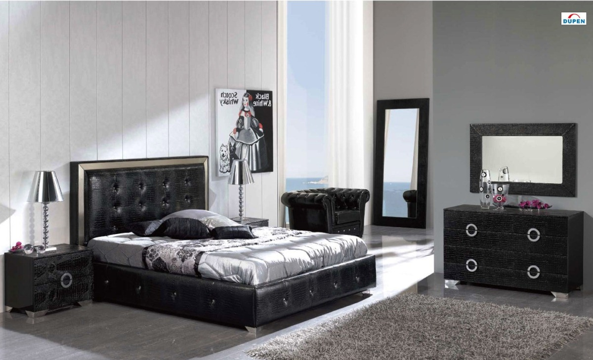 black bedroom furniture design ideas photo - 4